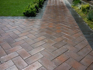 Укладка тротуарной плитки дома
