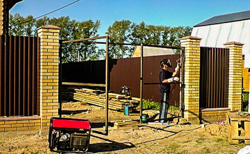 Установить ворота на даче