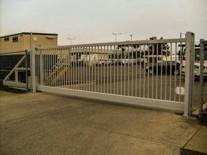 промышленные ворота установка