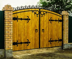ворота на дачу установка