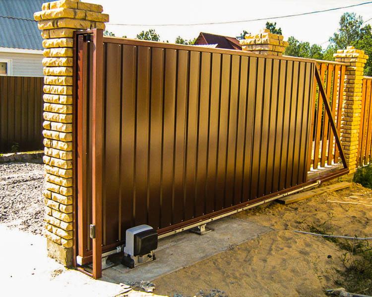 Раздвижные ворота преимущества максимальная ширина сварных ворот