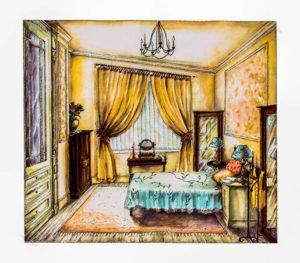 интерьер спальни прайс