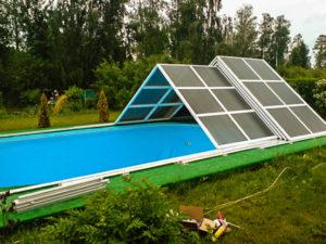 навесы для бассейнов раздвижные цена