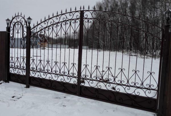 Ворота кованые 010