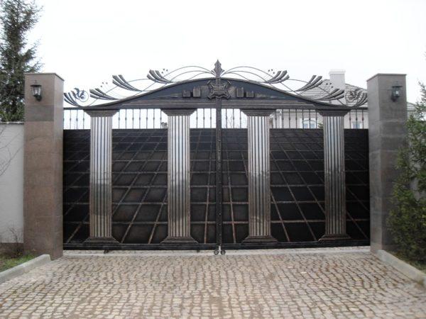 Ворота кованые 014