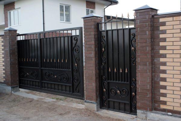Ворота кованые 003