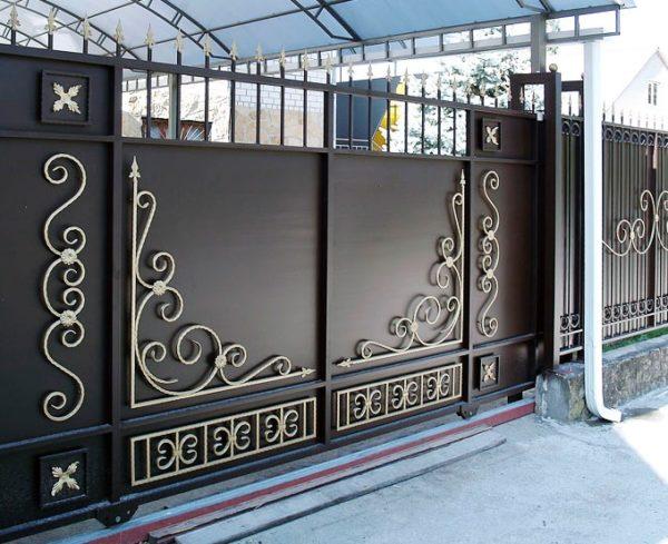Ворота кованые 004