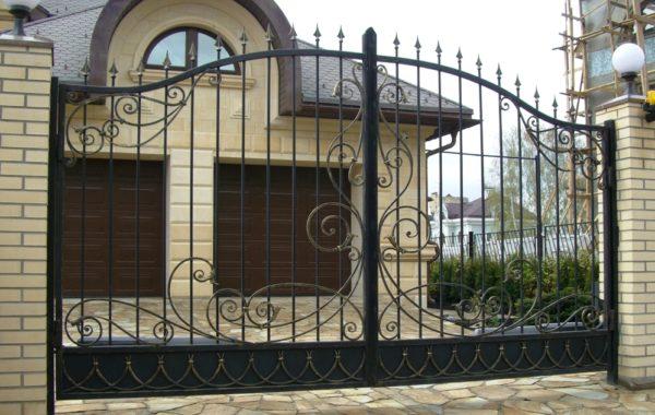 Ворота кованые 006